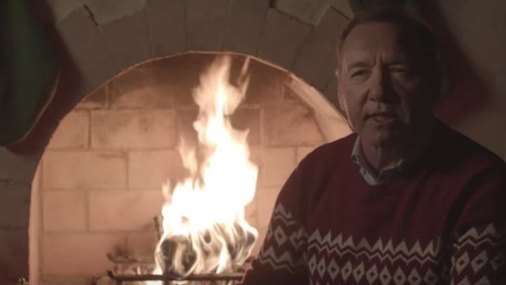 Kevin Spacey has posted another bizarre Christmas video