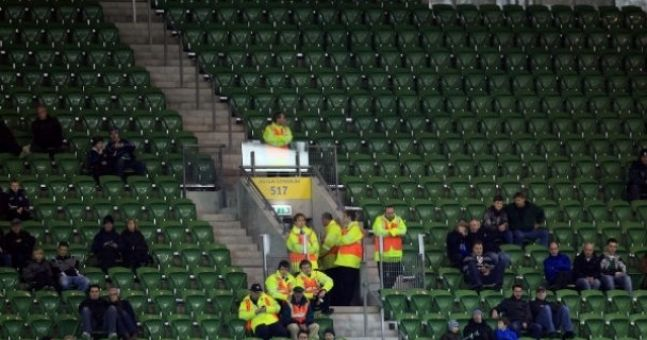 Ghost town expected at the Aviva Stadium