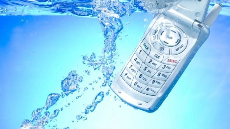 Bogged down: 50% of water-damaged phones ended up in the toilet