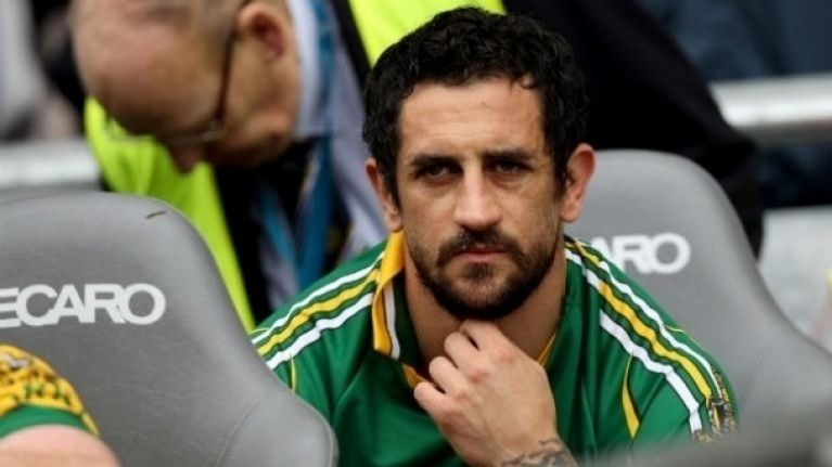 Paul Galvin gives his side of the row with Oliver Callan