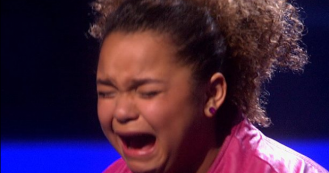 Video: Ousted X Factor USA contestant cries like a little girl (because she actually is one)