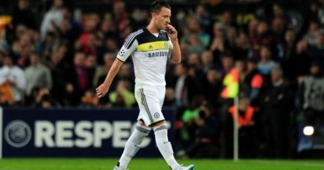 John Terry barred from lifting Champions League trophy. Let's all shed a tear.