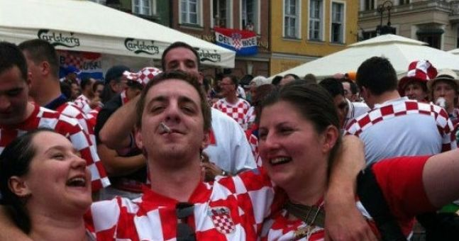 Eamon Keegan wasn't the only one getting to grips with the topless Croatian girls (Absolutely NSFW)