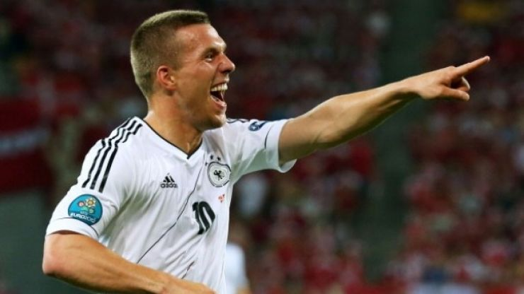 Video: The reaction from Lukas Podolski's son after his dad saves his penalty is priceless