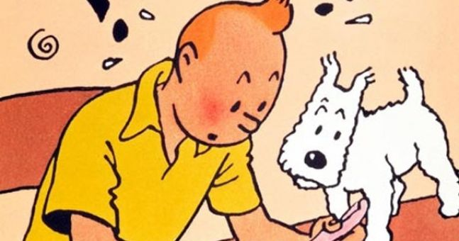 Pic of the Day: Tintin gets shocking Irish skanger treatment on O'Connell Street