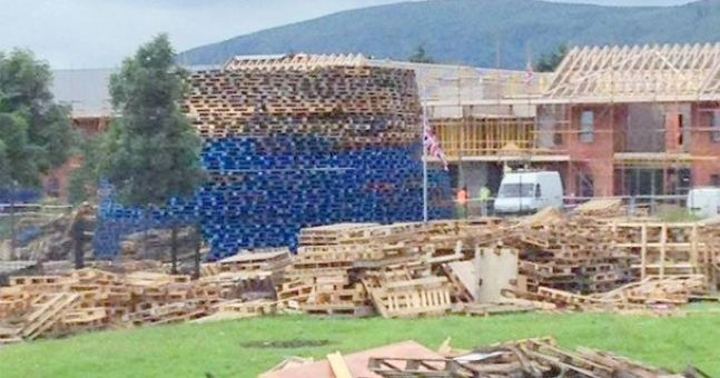 Pic of the Day: Where not to build a giant unionist bonfire