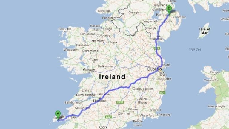 Dingle Map Of Ireland.Video How To Drive From Dingle To Belfast In 3 5 Minutes