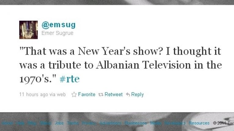 Twitter gallery: RTE panned for awful New Year\'s Eve broadcast   JOE.ie