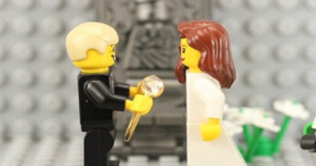 Video: Husband-to-be must have been bricking it over this LEGO marriage proposal
