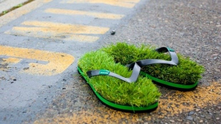 1b8e9cf39666 The latest footwear trend  flip flops made from grass