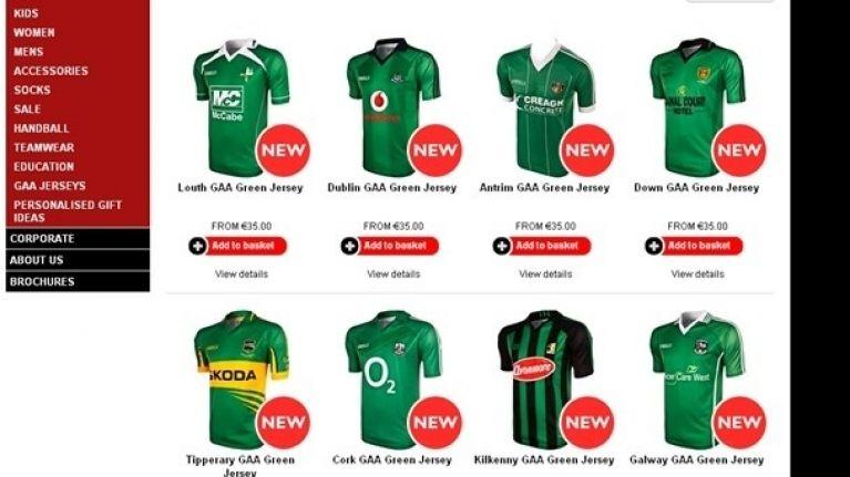 official photos 6a8a2 7f196 So you've seen the special edition green GAA county jerseys ...