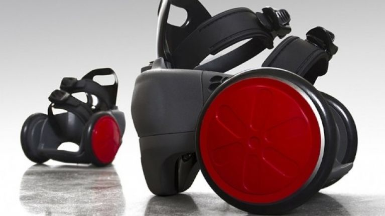 Easygoing gadget: Forget walking, here's motorised shoes