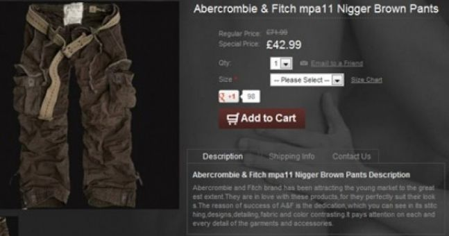 Did Abercrombie & Fitch actually sell a brown pair of pants by using the N-word?