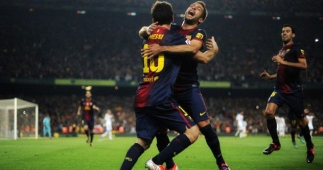 Pic of the Day: Messi drops the hand on Jordi Alba after Barca winner