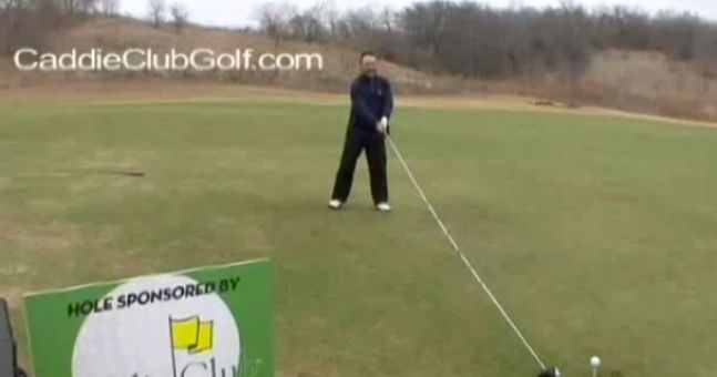 Video: The ladies will love this guy's massive shaft... don't worry, it's only a golf club