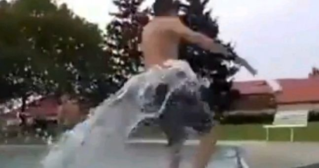 Video: A very painful lesson in why you should never run beside the swimming pool
