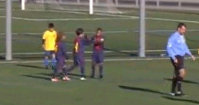 Video: Barcelona under-10s score a brilliant goal worthy of their senior team