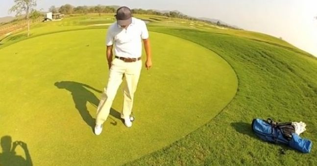 Video: You'd have to go a long way to find better skills with a golf club than this