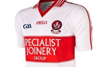 Joe Brolly shows us the 'Opt for Life' Derry GAA jersey to be worn this summer