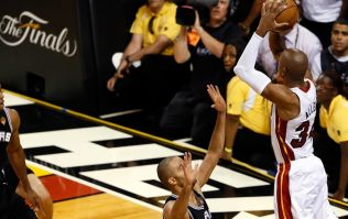 Video: Last gasp three pointer that saved the series for the Miami Heat
