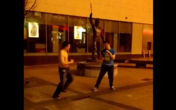 Video: Drunken Limerick mates fight it out in a hilarious quote-laden scrap