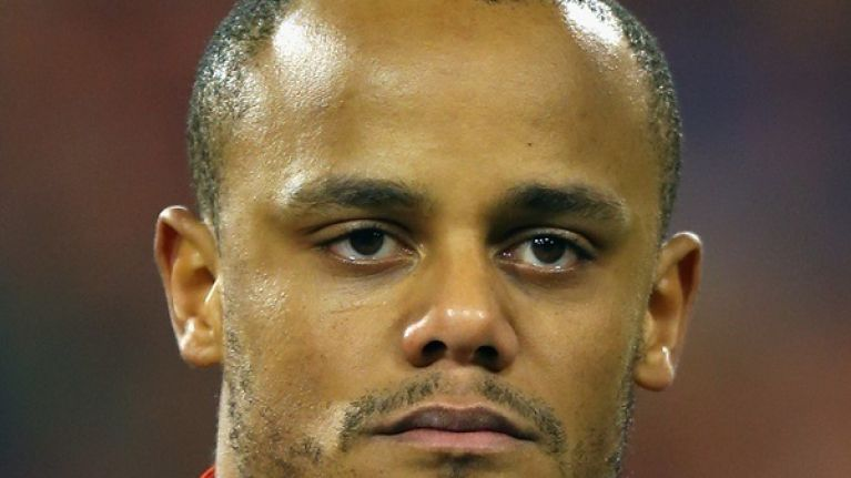Pic: Vincent Kompany's face was in a bad way after Belgium's win over Serbia last night