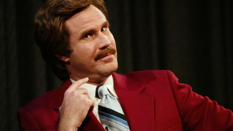 Picture: No big deal, it's just Ron Burgundy on a tandem
