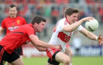 Picture: Things got heated as Derry took on Down today