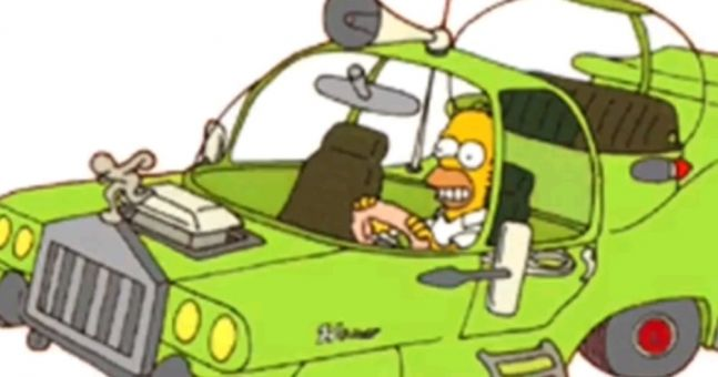 Homer Car: Video: Remember The Car That Homer Made In The Simpsons