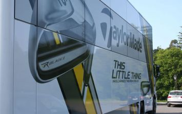 Irish Open: JOE gets on board the TaylorMade Tour Truck