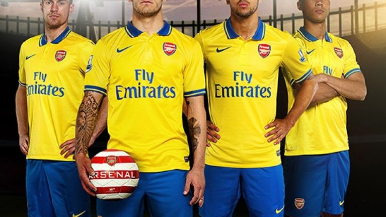 buy online 1ca48 212ba Pictures: Arsenal's new away kit launched today | JOE is the ...