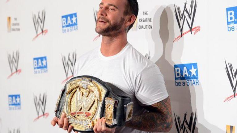 Pics: Wrestler CM Punk spilt his head open at 'Money in the Bank' last night