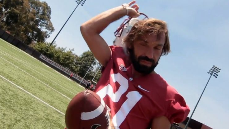 Video: Andrea Pirlo tries his hand at American Football