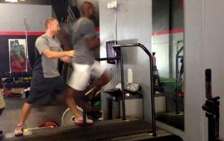 Video: Chad 'Ochocinco' Johnson running at 24mph on a treadmill at an incline