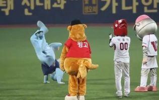 Video: Korean baseball mascot dance-off