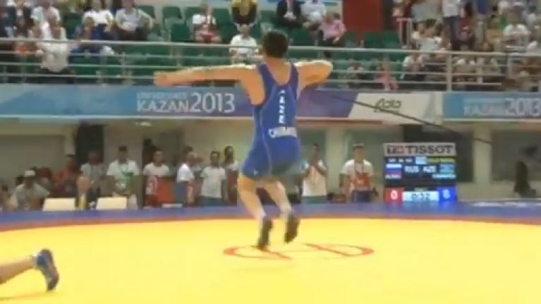 Video: Wrestler has the most epic celebration dance you'll see today