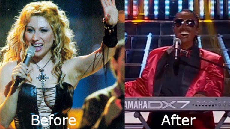 Video: Blonde woman impersonates Stevie Wonder on Greek version of 'Your Face Sounds Familiar'