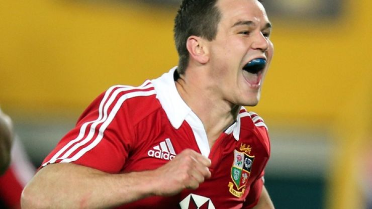 Pic: Heeeeere's Johnny. Cracking shot of Sexton celebrating his crucial try in an emphatic Lions win