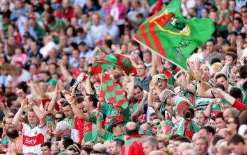 Mayo for Sam banner spotted at Bruce Springsteen gig