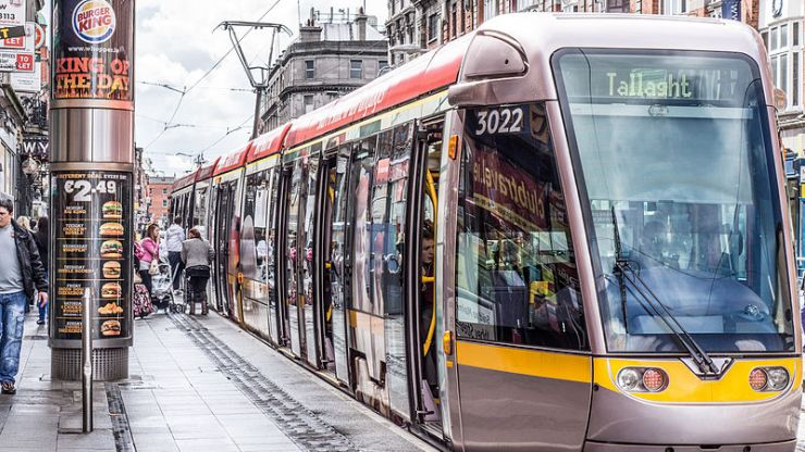 Picture: One track mind - driver blocks Luas tracks to get to adult store