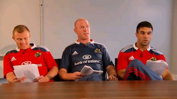 Video: Earls, Murray and O'Connell surprise Munster fans at job interview