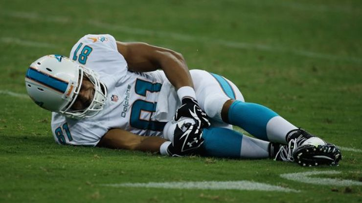 Video: Horrific knee injury inflicted on Miami Dolphins player in pre-season game