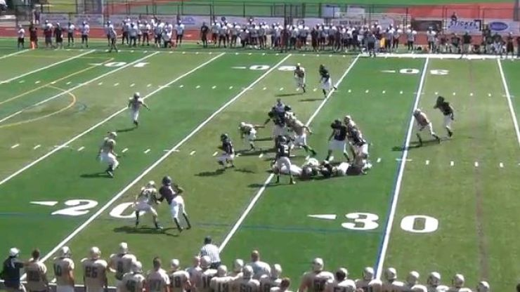 Video: High school kid scores the most ridiculous TD you'll see today