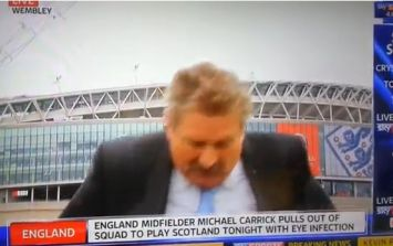 Video: Sky Sports News reporter Nick Collins hilariously falls over live on air
