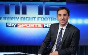 Video: Did Gary Neville have a bit too much fun on Monday Night Football?