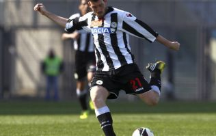 Video: Udinese's Andrea Lazzari scored a cracking goal from the halfway-line last night