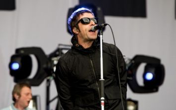 Pic: Liam Gallagher also made his way to Mayo yesterday (Warning: Oasis pun overload)