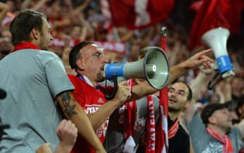 Video: Franck Ribery leads Bayern fans in Super Cup celebrations with a big-ass megaphone