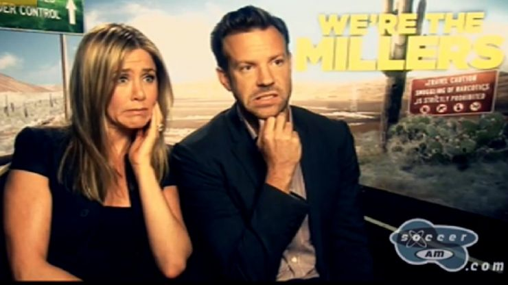 Check out this hilarious Soccer AM interview with Jennifer Aniston and Jason Sudeikis