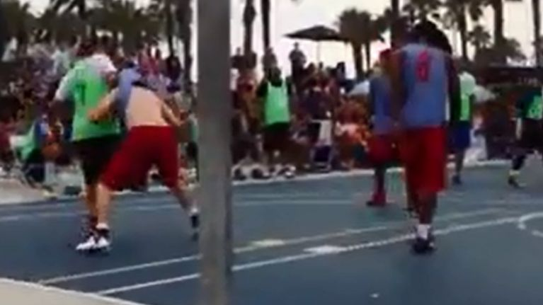 Video: Brilliantly cheeky basketball trick move in Venice Beach